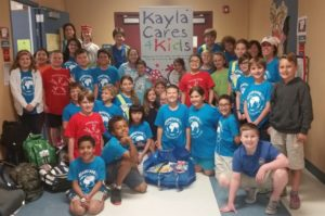 The Samaritans365 Club at Sandpiper Shores Elementary School collected hundreds of items for Kayla Cares 4 Kids!