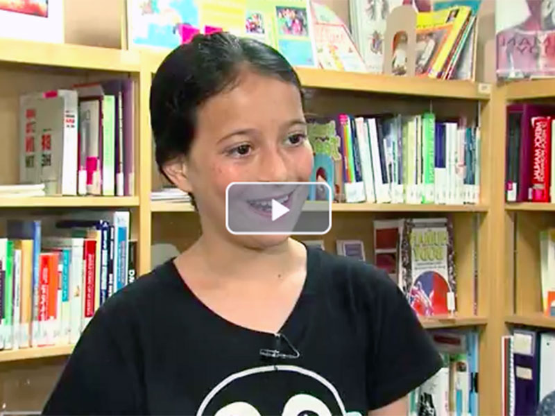 11-Year-Old Florida Girl Helps Cleveland Kids (WEWS-TV)