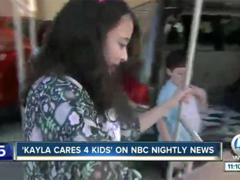 WPTV – 'Kayla Cares 4 Kids': Local girl's organization receives national attention